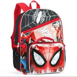 "Spiderman Backpack 16"" with Detachable Lunch Bag"